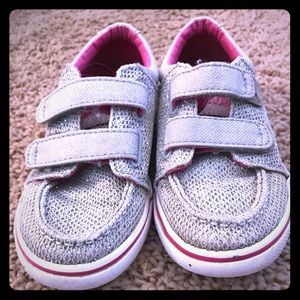Silver Sperry Toddler Sneakers